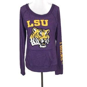 LSU Womens Shirt Size XL Purple Gold Long Sleeve
